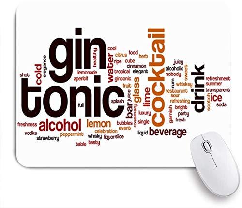 SIONOLY Mauspad - Lemon Cold Juice Gin Tonic Wort Flüssige Wolke Eis Cocktail Alkohol Scheibe Alkoholische Bar Getränk Citrus - Gaming und Office rutschfeste Gummibasis Mauspads,240×200×3mm