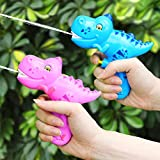 Dinosaur Water Gun 2 Pack for Kids, Small Water Blaster Soaker Squirt Guns Bulk for Water Fighting Summer Pool Beach Party Favors Bath Toy for Kids Boy Girl