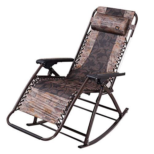 Mecedoras Relajantes Tela Transpirable Sillones reclinables para Patio Sillas de jardín con Almohadas extraíbles Multi posición Ajustable para Sala de Estar con balcón