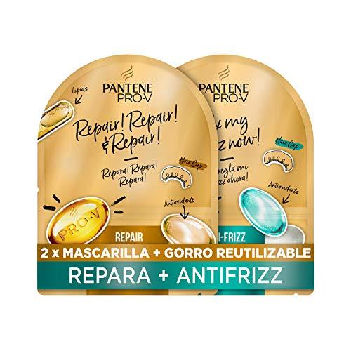 Pantene Pack Mascarilla Capilar + Gorro De Ducha Reutilizable, Mascarilla Reparación Superalimento, Mascarilla Antiencrespamiento Superalimento