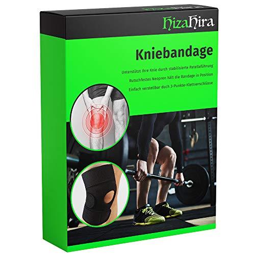 HizaHira Kniebandage – Kniebandage Sport und Alltag für Männer und Frauen (1 Stück)