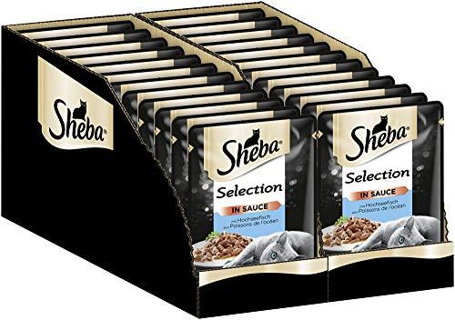 Sheba Katzenfutter Nassfutter Selection in Sauce mit Hochseefisch, 24 Beutel (24 x 85 g)