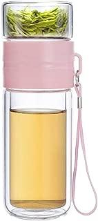 glass green tea bottle