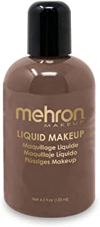 Mehron Makeup Liquid Face and Body Paint (4.5 oz) (EBONY)