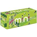Mountain Dew Soda, 7.5 Ounce Mini Cans, 10...