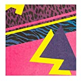 Boland 44608 - Papierservietten 80´s, 12 Stück, Größe 33 x 33 cm, 80er Jahre, neon, Partygeschirr, Garten Party, Geburtstag, Fingerfood, Partyzubehör, Bad Taste Party, Überraschungsparty - 3