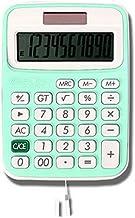 Calculator, 12-Digit Widescreen Display Calculator, Office Business Calculator, Solar Fashion Mini Calculator. (Color : Gr...