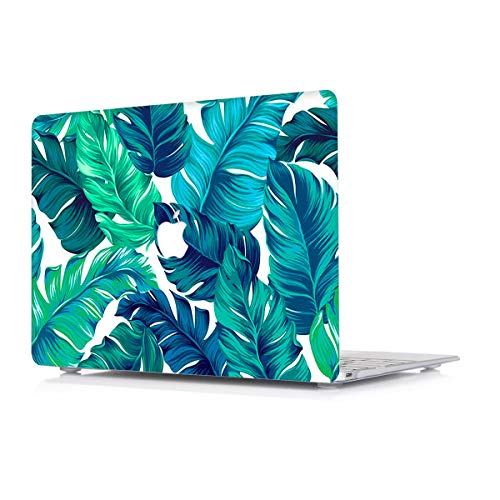 Hard Case For Apple MacBook Air 13,3 Inch Model A1466/A1369 - L2W Plastic Laptop Computers Accessories Cover Protective Matte Translucent Palm Leaf Design Shell