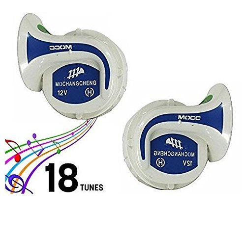 AutoStark Mocc 18 in 1 Digital Tones Car Magic Horn Set of 2 for Maruti Suzuki Alto-K10