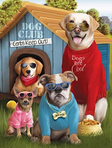 Houten Puzzel, 1500 stukjes Hond Met Zonnebril Puzzel Kinderen Educatief Speelgoed Houten Intelligentie Legpuzzels 87X57Cm