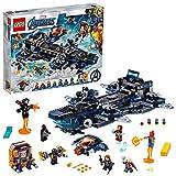Super Heroes Clas Avengers Helitransporte de los Vengadores Juguete con Iron Man, Thor y la Capitana Marvel, Serie, multicolor (Lego ES 76153)