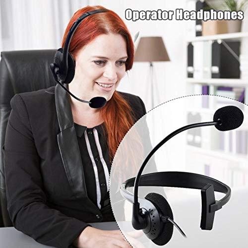 Kathariiy Einohr-USB-Kopfhörer mit Mikrofon - Headset mit Geräuschunterdrückung für Büro, klarere Stimme, superleicht, extrem komfortabel