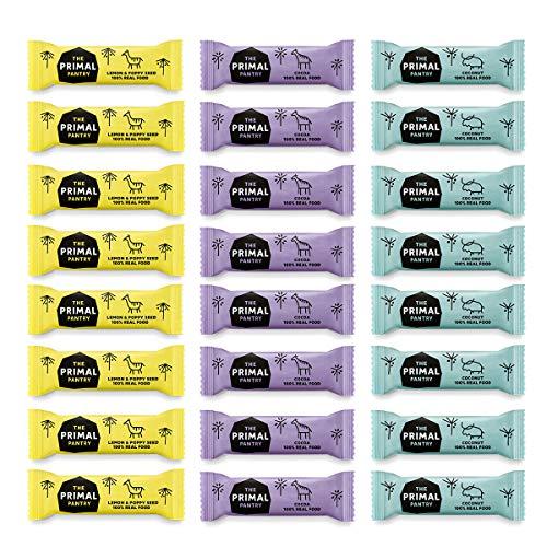 The Primal Pantry Energieriegel 24 x 30g - kšstlicher Fruchtriegel - Nussriegel - ohne Zuckerzusatz, vegan, laktosefrei, weizenfrei und glutenfrei