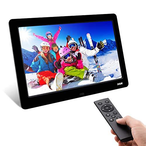 Digitaler Fotorahmen, 2019 Neueste SSA 8,2 Zoll 1280 x 720 Voll IPS-Foto- / Musik- / Videoplayer-Kalenderalarm mit hoher Auflösung, einzigartige Schnittstellenfernbedienung