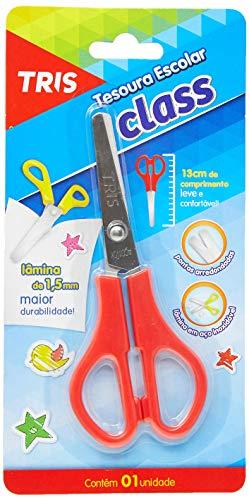 Tesoura Escolar Class - 13Cm - Azul - Cart C/1 Un - Tris