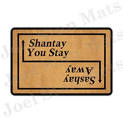 Joelmat Sashay Away, Shantay You Stay Entrance Non-Slip Indoor Rubber Door Mats for Front Door/Bathroom/Garden/Kitchen/Bedroom 23.6