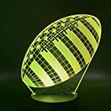 3D Lampe Rugby Football Sport Ballon Jeux Chambre Décoration 7 Couleurs Avec Le Meilleur Cadeau De Vacances Pour Les Enfants Night Light Lamp Bluetooth Control