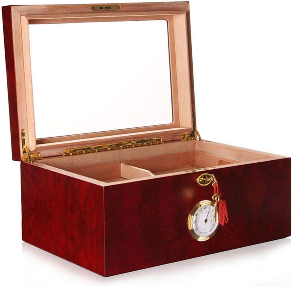 LJW Solid Wood Finally popular brand humidor Cigar Rare Transparent Skylight Box Glass