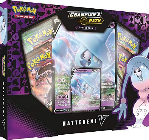 Pokémon POK80774 TCG: Champion's Path Hatterene V Box, Multicolore