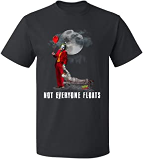 Not Everyone Floats JOK-er and Penny-Wise Funny Halloween Unisex T Shirt for Mens Womens Up to 5XL