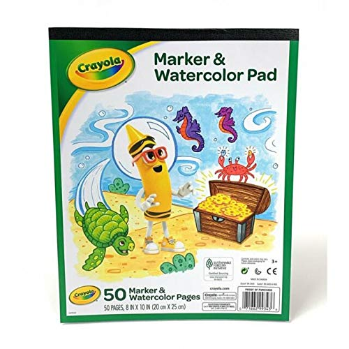 Crayola Marker and Watercolor Pad 8 x10 Inches , 50 pages