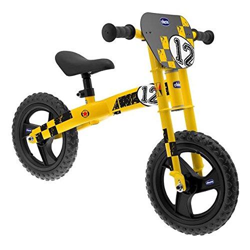 Chicco - Bicicleta sin Pedales con sillín Regulable, Color Amarillo (00007413000000)