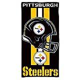 WinCraft NFL Pittsburgh Steelers Fiber Beach Towel, 9lb/30 x 60