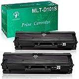 GREENSKY 101s MLT-D101S Cartuchos de tóner Samsung compatibles, Negro, 1500 páginas, para ML-2160 ML-2161 ML-2162 ML-2162G ML-2165 ML-2165W ML-2166W ML-2168 SCX-3400 SCX-3401 SCX-3400F (2 Paquetes)