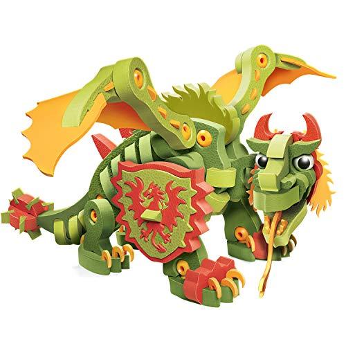 Bloco Toys Combat Dragon | STEM Toy | Fantasy Mythical Creatures | DIY Building Construction Set (155 Pieces)