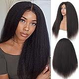 BLISSHAIR 16 Pouces Lace Wig Cap Cheveux Bresilien Perruque Femme Naturelle - Yaki Perruque Kinkycurly Bresilienne Meches