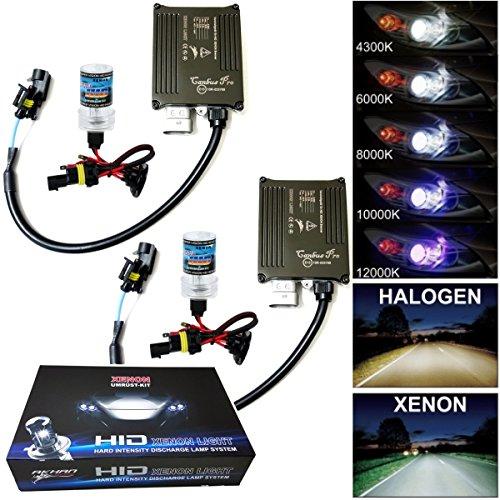 Akhan Digital 9-32V 35W CANBUS Xenon Kit Nachrüstsatz H3 10000 Kelvin inkl. HID Vorschaltgerät, Xenon Brenner Lampe und Montage Material ohne Fehlermeldung und ohne Flackern