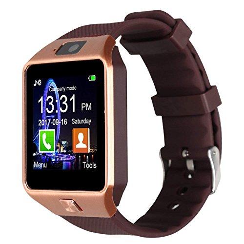 MA SOSER Square Adult Elektronische Horloge Mannelijke Multifunctionele Digitale Touch Screen Smart Step Telefoon Horloge Nachtlampje Smartwatch, Goud