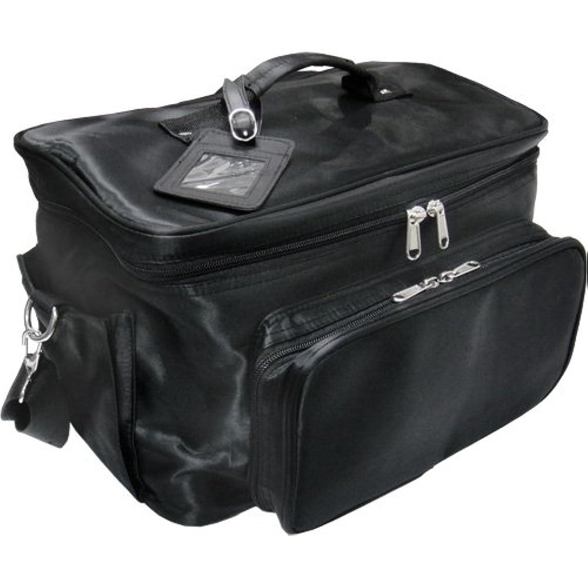 ファウル情報ブラインド軽量バニティーバック ブラック コスメバッグ、ネイルバッグ、ネイリストバッグ、ナイロンコスメボックス