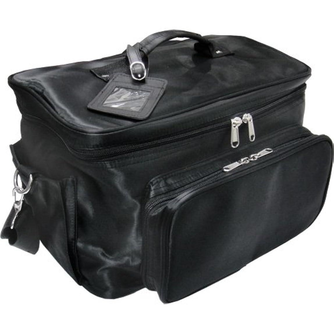 ベアリング心のこもった描写軽量バニティーバック ブラック コスメバッグ、ネイルバッグ、ネイリストバッグ、ナイロンコスメボックス