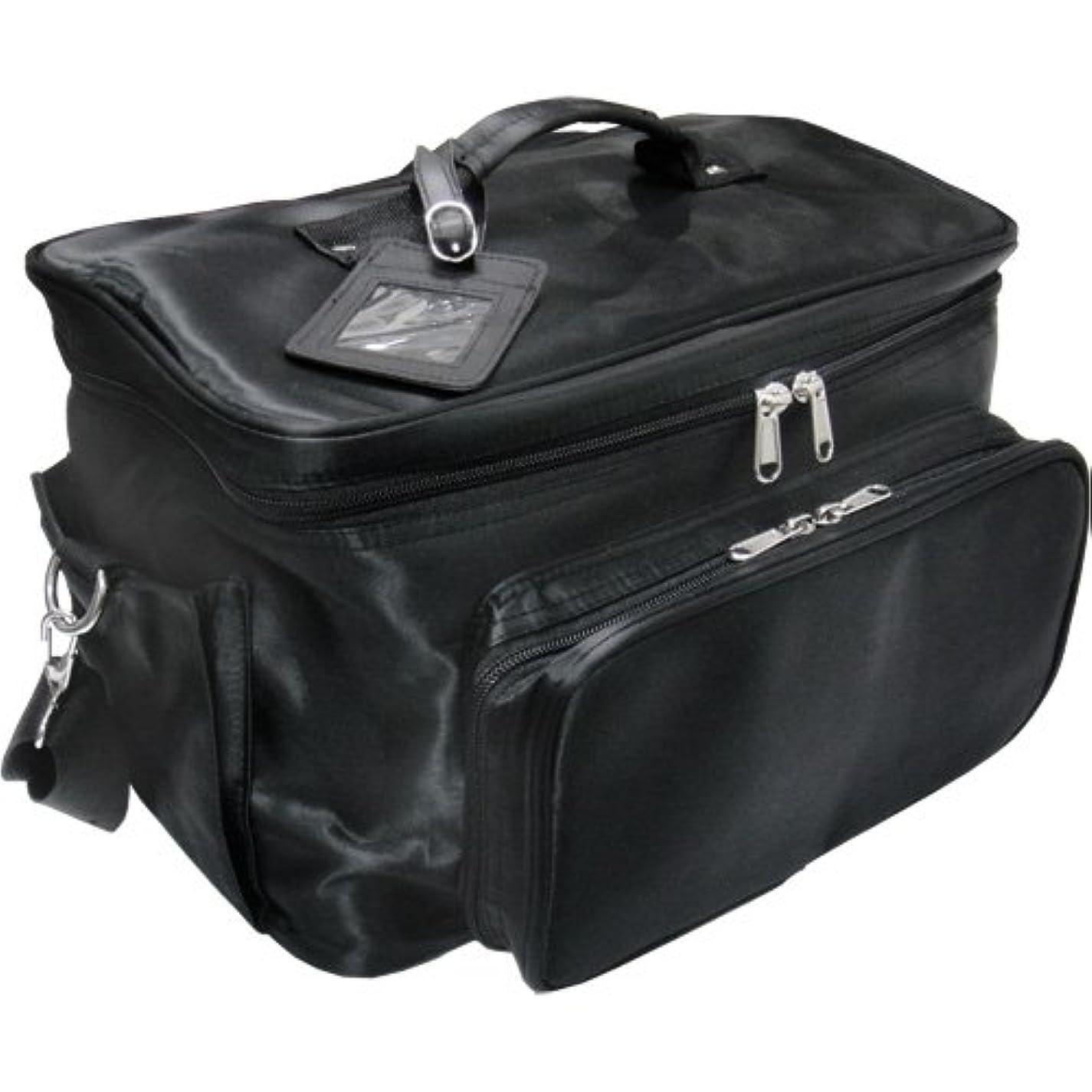 多年生同僚菊軽量バニティーバック ブラック コスメバッグ、ネイルバッグ、ネイリストバッグ、ナイロンコスメボックス