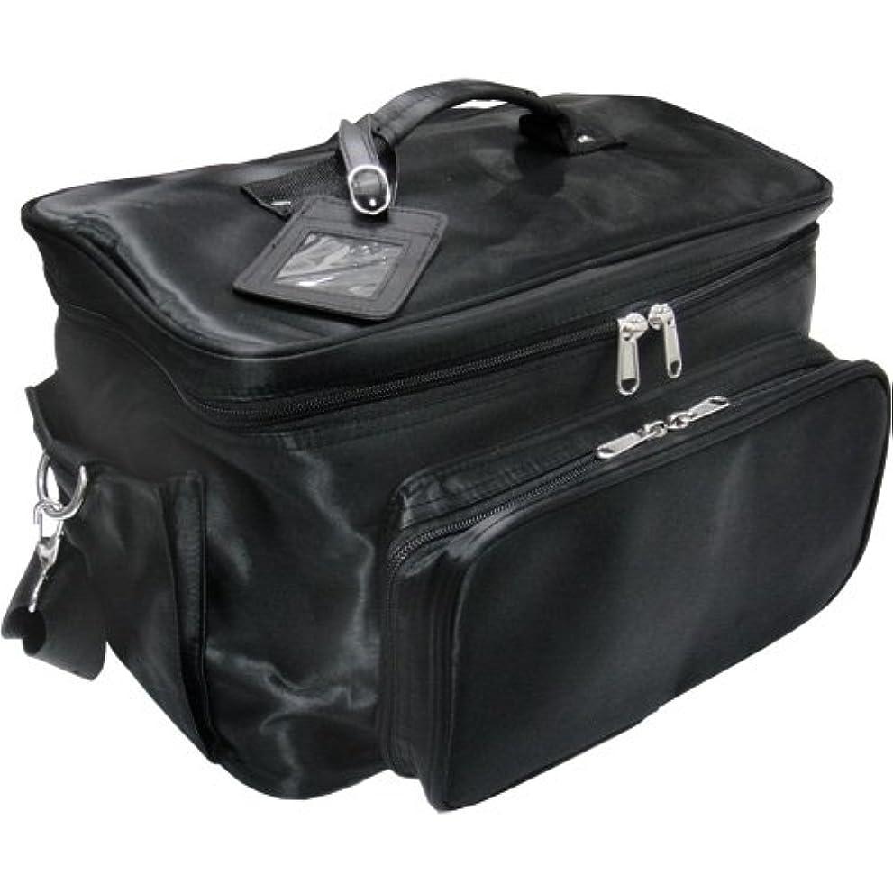 ストライクアルネ酸素軽量バニティーバック ブラック コスメバッグ、ネイルバッグ、ネイリストバッグ、ナイロンコスメボックス