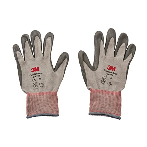 3M Comfort Grip Glove CGL-GU, General Use, Size L, foamed nitrile palm provides excellent grip, even in wet or oily conditions