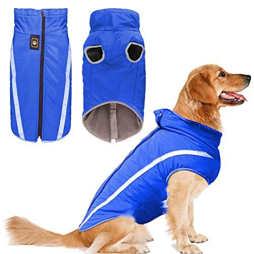 KINGLEAD Hundemantel Jacke für Wärme Brustschutz Puffer Haustier Haustier Hund Welpen Weste für Herbst Winter