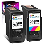 ColoWorld Remanufactured Ink Cartridge Replacement for Canon 240XL PG-240XL CL-241XL (1 Black,1 Color) Used for Pixma MG3620 MG3600 MG3520 MX432 TS5100 TS5120 MX532 MX472 MX452 MG3220 MG3500 Printer