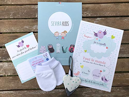 Sevira Kids - Pack cadeau naissance avec moufles anti-griffures