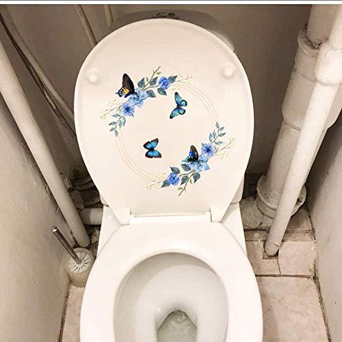 Muursticker schattig met de hand getekend slinger verse muur Sticker Home kamer Decor toiletstickers 22.3X21.8Cm