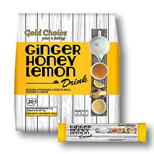 Ginger Honey Lemon Drink - Boisson au gingembre, miel et citron - 20 sticks de 10g