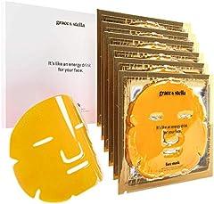 Mascarilla Facial De Gel De Oro Colágeno (Paquete De 6) Para Antiedad, Antiarrugas Hidratante