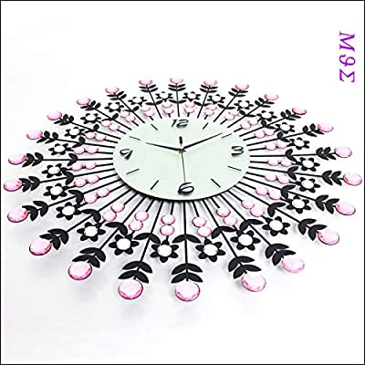 KAWEAZ Wrought Iron Wall Clock Wanduhr Home Decor Modern Design Watch Vintage Saat Relojes Pared Decoracion