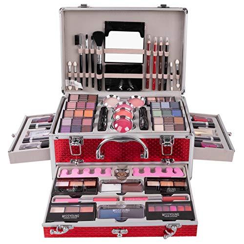 JasCherry Juego de Maquillaje Set Estuche de Maquillaje Paleta Kit Completo Caja con Sombras de ojos, Rubor, Brillo labios - Belleza Profesional Cosmético de Caja Belleza Juego de Regalos #3
