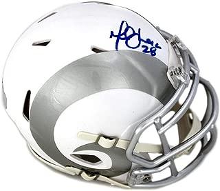 Autographed Marshall Faulk Mini Helmet - Ice - Autographed NFL Mini Helmets
