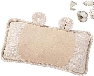 LHLHM Almohada Ropa De Cama Para Bebés Algodón De Color Natural Forro De Algodón Almohada Para Bebé Piel Cómoda Funda De Almohada Extraíble Diseño Almohada De Algodón