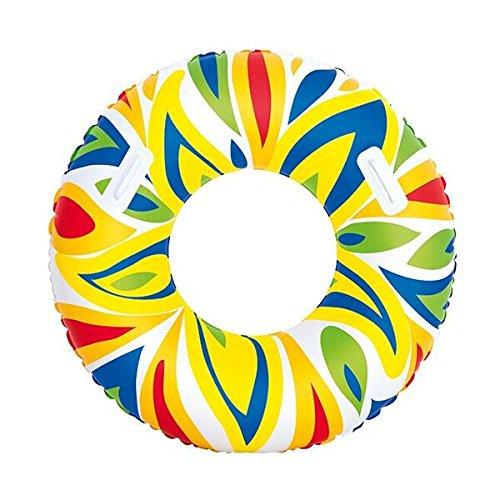 Bestway aufblasbarer Schwimmring mit Griffen, 107 cm, blau, 1 Stück