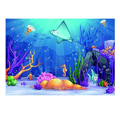 Homyl Poster Fond de Aquarium Autocollant pour de Mural de Chambre - S