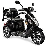 Rolektro E-Trike 25 V.3 Pro Dreirad Schwarz - 1000W Elektroroller - 70km Reichweite - herausnehmbarer Lithium Akku - LED Licht - Seniorenmobil mit Straßenzulassung